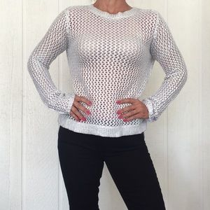 KENNETH COLE WAX COATED SWEATER LARGE